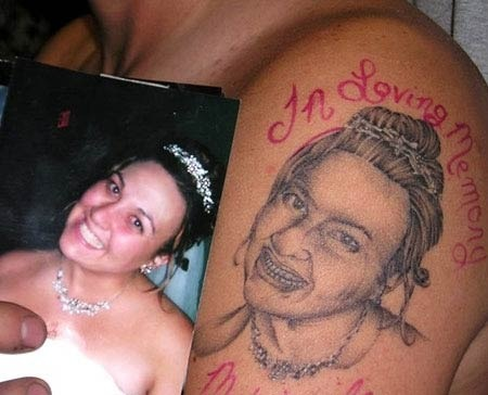 Mozz Aegyo Teeth tattoo. Portrait tattoos must be difficult, but this one is